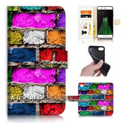 AU12.99 • Buy ( For Oppo A57 ) Wallet Flip Case Cover AJ40725 Old Wall
