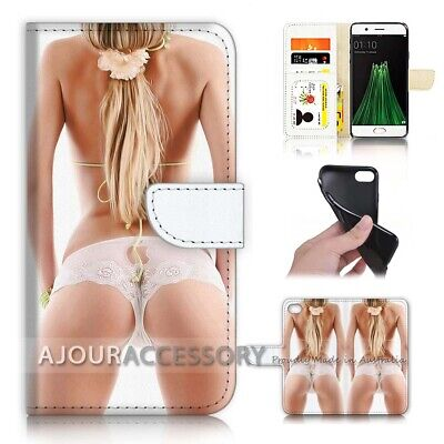 AU12.99 • Buy ( For Oppo A57 ) Wallet Flip Case Cover AJ40789 Sexy Girl