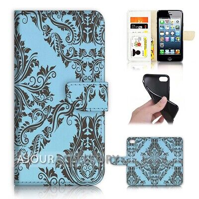 AU12.99 • Buy ( For Huawei Y5 2018 ) Wallet Flip Case Cover AJ40622 Damask Design