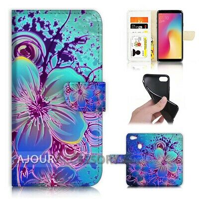AU12.99 • Buy ( For Oppo A73 ) Flip Wallet Case Cover AJ40447 Abstract Flower