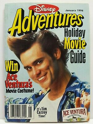 $4.99 • Buy Disney Adventures Kids Magazine Back Issue January 1996 Jim Carrey Ace Ventura