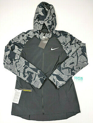e17003cff5 Nike Essential Flash Jacket Womens Black Grey Reflective Running AQ4743-010  NWT • 44.95$