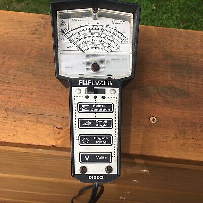 vintage dixco tach dwell points volts meter tester cool early 70s computer  font • 20 00