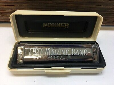 $9.95 • Buy Pre-owned 2013 M. HOHNER 1896/20 D Marine Band Harmonica GERMANY