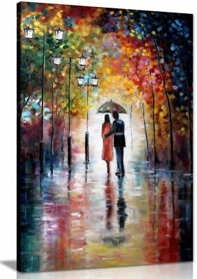Art For Home Lovers Under Umbrella Painting Canvas Wall Art Picture Print • 15.99£