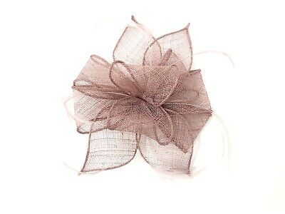 Dusky Pink Feather Fascinator Hair Clip Or Band Races Wedding • 21.99£