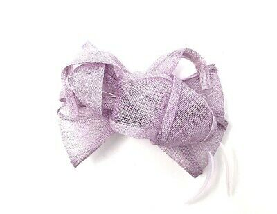 £24.99 • Buy Mauve / Lavender Purple Feather Fascinator Hair Clip Or Hair Band Races Wedding