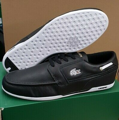 LACOSTE Mens Dreyfuse SPM Trainers Leather Boat Flat Shoe RRP £120 • 79.99£