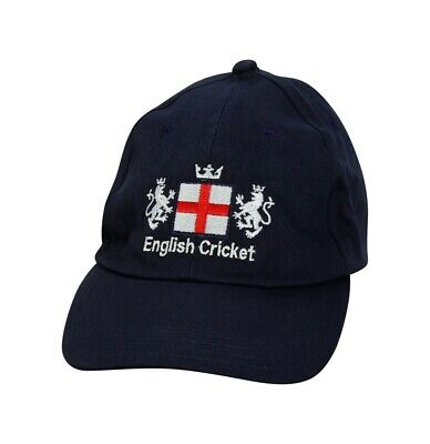 High Quality Cricket Baseball Style Cap With England St Georges Logo Navy Adults • 8.99£