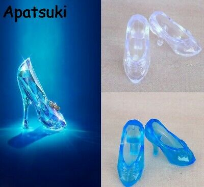 10Pairs/lot Fashion Crystal Shoes For Barbie 11  Cinderella 1/6 Doll Accessories • 2.07£