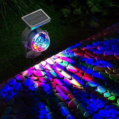 NEW Solar LED Carnival Spotlight Colour Changing Projection Stake Light Outdoor • 15.95£