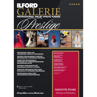 "ILFORD Galerie Prestige Smooth Pearl 310 Gsm 6 X4"" 100 Sheets   • 16.52£"
