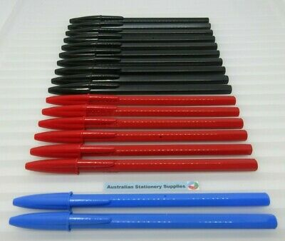 AU7.75 • Buy 12 Assorted Colours Of Bic Economy Ball  Pen Fine 0.7mm  Free Post In Stock
