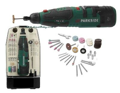 Parkside 12V Cordless Rotary Multi Tool Precision Drill+ Dremel Type Accessories • 28.99£