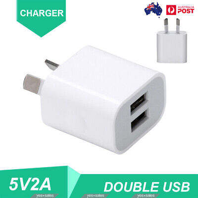 AU8.99 • Buy 2A Dual USB Fast Charger Double USB 5V USB Power Adapter AU Plug For Phone IPad