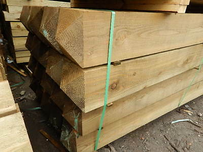 £20 • Buy 150 X 150 / 6  X 6  Tanalised Timber Gate Post 4 Way Weathered Top