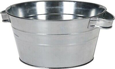 Zinc Tub With Carry Handles, For Planting Planter Washing Bucket 3.5 Litre • 9.99£