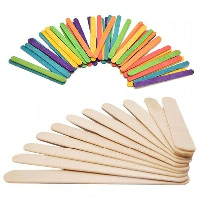 Wooden Lollipop Sticks Lolly Natural Craft Crafts Lollies Ice Pops 10 To 10000 • 2.59£