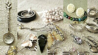 $ CDN10 • Buy Mixed Fashion Jewelry Lot - Necklace,rings & More! Lots Of PHOTOS! Some Sterling