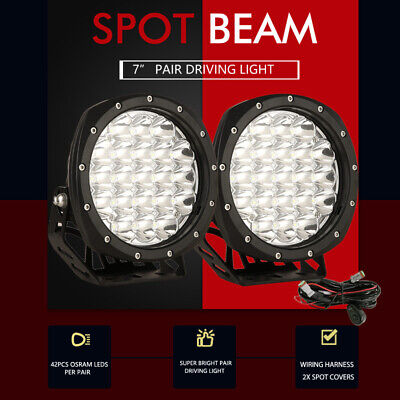AU79.96 • Buy Pair 7inch OSRAM LED Driving Lights Spot Spotlights Round Red Work Offroad Lamp