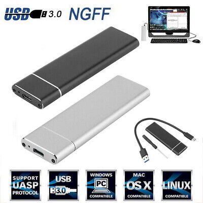 AU22.99 • Buy M.2 NGFF To USB 3.1 Type-C SATA SSD Converter Adapter Enclosure Case 10Gbps UK