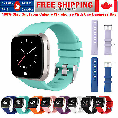 $ CDN6.99 • Buy For Fitbit Versa / 2 / Lite Strap Replacement Silicone Buckle Sport Watch Band