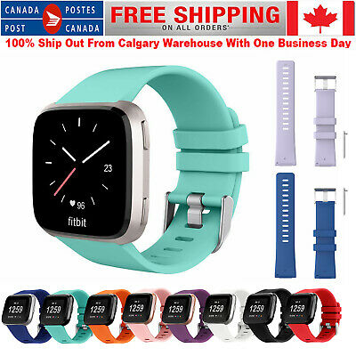 $ CDN7.99 • Buy Silicone Sport Band Replacement Bracelet Strap For Fitbit Versa 2/1/Lite S / L