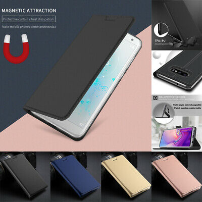 $ CDN6.22 • Buy For Samsung S10 S9 S8 Plus S7 Edge Magnetic Flip Leather Wallet Card Cover Case