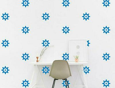 Ship Wheel Shape Wall Stickers Nautical Vinyl Decal Bathroom Tile Kids Bedroom • 4.99£