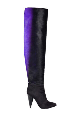 55ecbdb11bebd Tom Ford Womens Purple Ombre Calf Hair Over The Knee Boots Sz IT35/US5~