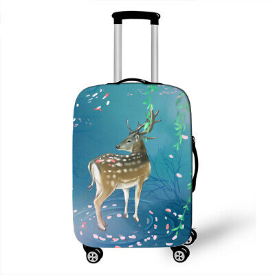 3D Animal Deer Luggage Protector Cover Suitcase Cover Protector Fit 18-32  • 10.85£