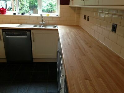 Up To 10% Off Solid Oak Kitchen Worktop ✔ Real Wood ✔ 2m 3m 4m ✔ Breakfast Bars • 205.50£