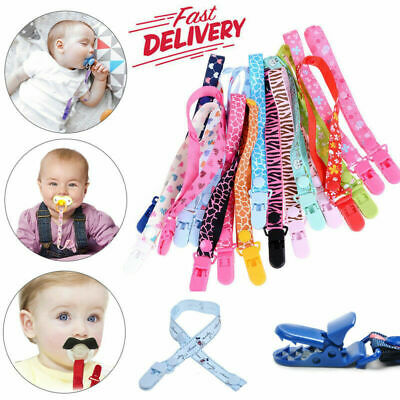 £2.89 • Buy Dummy Clip Baby Soother Clips Teething Baby Teether Chain Holder Pacifier Strap