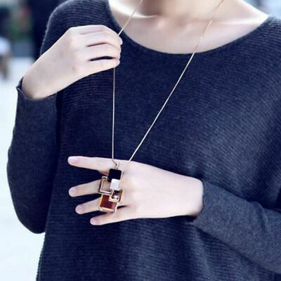 AU9.63 • Buy Jewelry Crystal Rhinestone Sweater Chain For Women Gift Long Pendant Necklaces