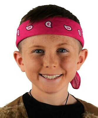 Childrens Headband. Fancy Dress Accessory. Pink Pattern Bandana. Pirate, Hippie • 1.85£