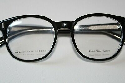 $55 • Buy Marc By Marc Jacobs Round Lens Shiny Black Eyeglasses MMJ610