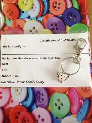 Tooth With Wings / Tooth Fairy Key Ring Key Chain - Dental Teeth Fairy Gift • 2.99£