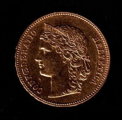 $364 • Buy 1893 Early Swiss 20 Franc Gold Coin AU