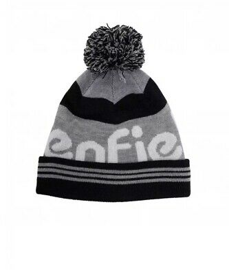 BNWT Penfield New Sanford Acrylic Striped Bobble Beanie Black Grey White Gift • 18.99£