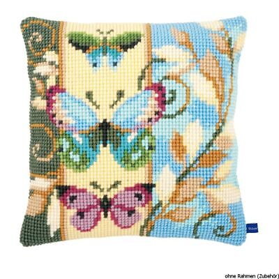 Vervaco Stamped Cross Stitch Kit Cushion Deco Butterflies, DIY • 25.61£