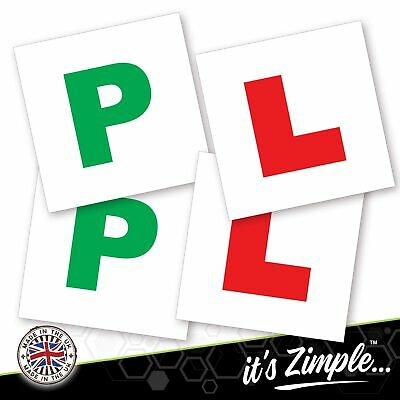 4x L And P Plates Stickers Safety Car Learner Just Passed Vinyl Legal Signs • 2.49£