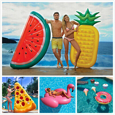 Inflatable Giant Swim Pool Floats Raft Air Lounge Bed Swimming Pool Beach Float • 8.99£