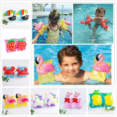 £4.95 • Buy Kids Inflatable Swimming Arm Band Swimming Pool Safety Float Armbands Ring Float