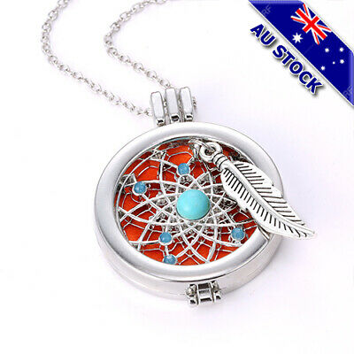 AU10.89 • Buy Locket Necklace Fragrance Essential Oil Aromatherapy Diffuser Pendant Jewelry