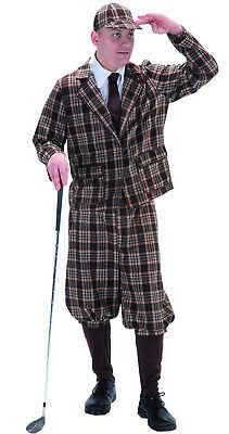 Mens 1930s 40s 50s Golfer Vintage Old Golf Stag Fancy Dress Costume Outfit • 39.78£
