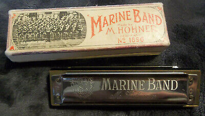 $24.93 • Buy Vintage M HOHNER Marine Band HARMONICA No 1896 W/ Box A440 Germany TESTED & WORK