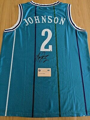 AU300 • Buy LARRY JOHNSON - Charlotte Hornets Signed Jersey With COA