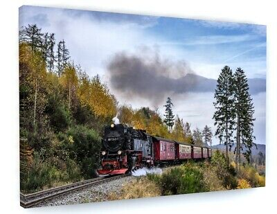 £39.97 • Buy Old Steam Train Railway Canvas Picture Print Wall Art 6048