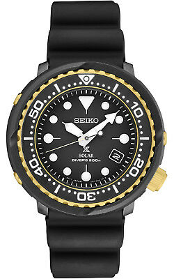 $ CDN382.76 • Buy New Seiko Solar Diver 200M Black Dial Silicone Strap Men's Watch SNE498