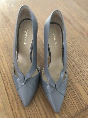 AU29 • Buy Nine West Women's Size 7M Grey Tayme Leather High Heel Dress Pump